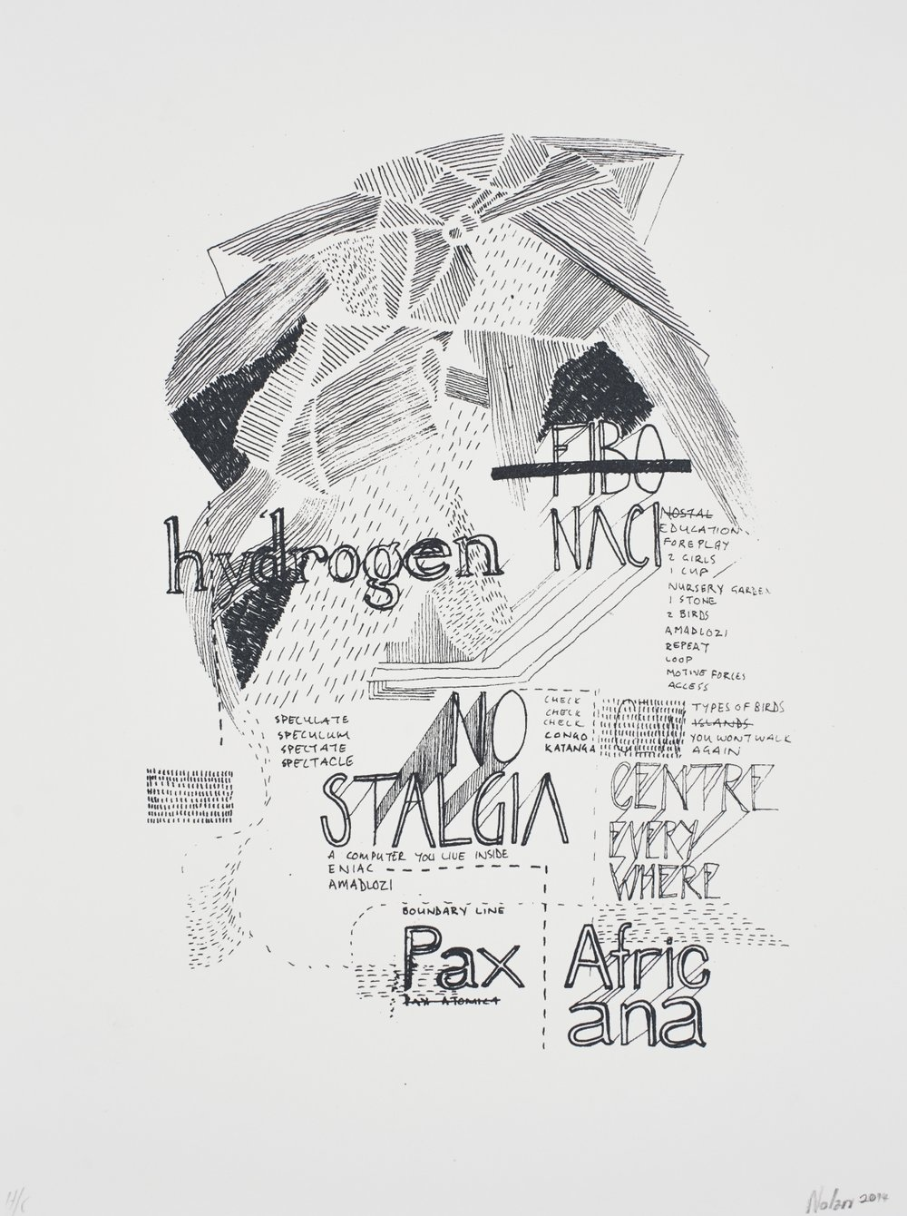Pax Africana   Nolan Oswald Dennis  Silkscreen on paper  Edition of 44  R 3 200.00 excl. vat