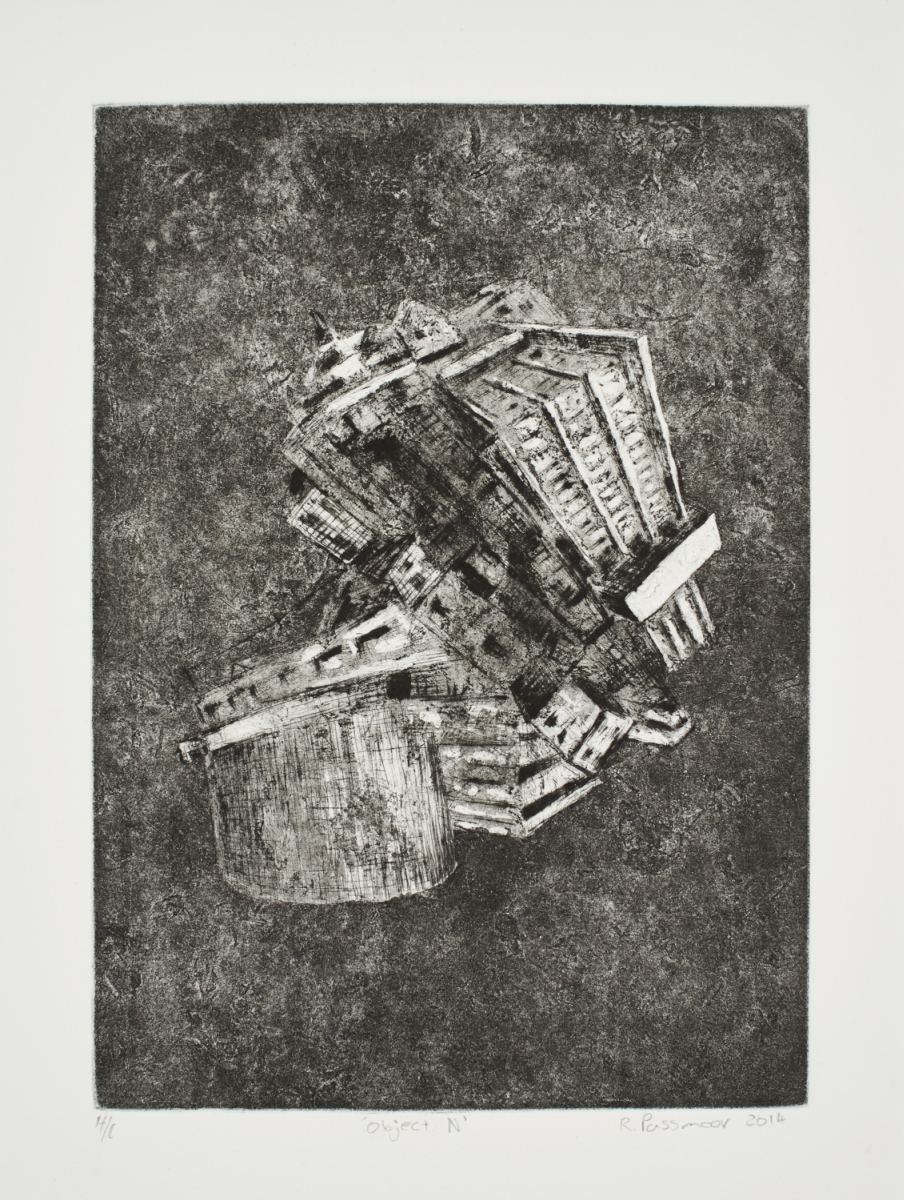 Object IV   Ross Passmoor  Collograph and Drypoint on paper  Edition of 44  R 3 200.00 excl. vat