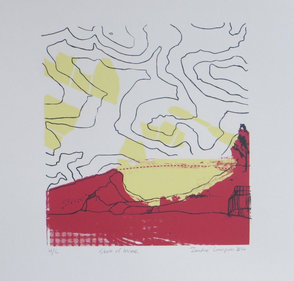 State of Mine   Zendre Compion  Silkscreen  335 x 335 mm  Edition of 20  R 1 340.00 excl. vat