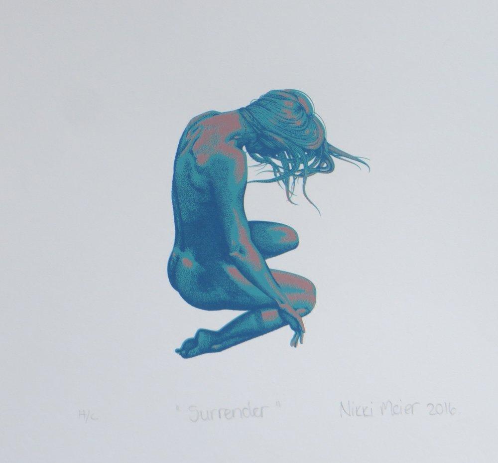 Surrender   Nikki Meier  Silkscreen  335 x 335 mm  Edition of 20  R 1 340.00 excl. vat