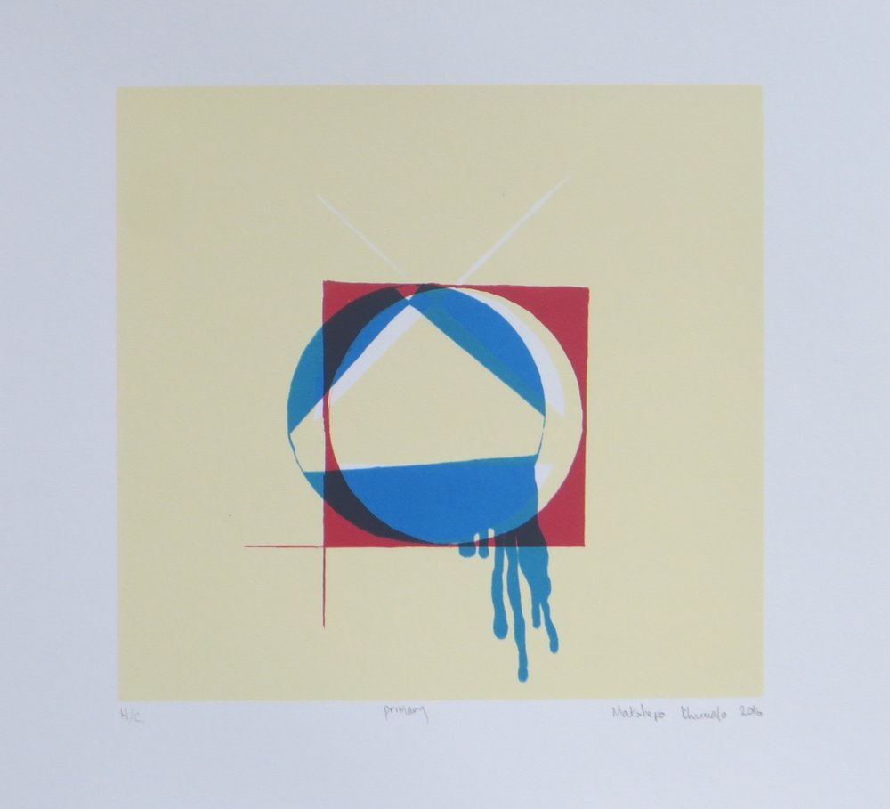 Primary   Matshepo Khumalo  Silkscreen  335 x 335 mm  Edition of 20  R 1 350,00 excl. vat