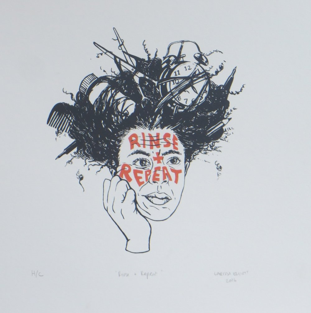 Rinse and Repeat   Larissa Elliot  Silkscreen  335 x 335 mm  Edition of 20  R 1 340,00 excl. vat