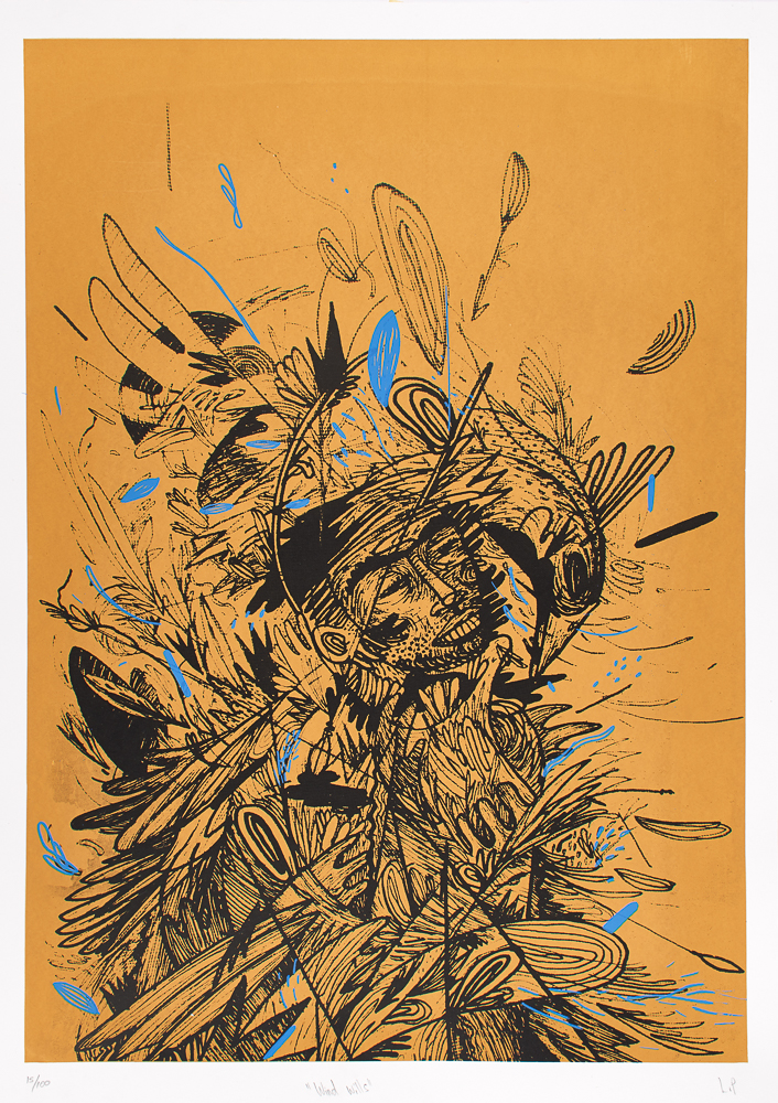 Windy Wills   Lisolomozi Pikoli  Silkscreen   700 x 800 mm   Edition of 100  R 500.00 excl. vat