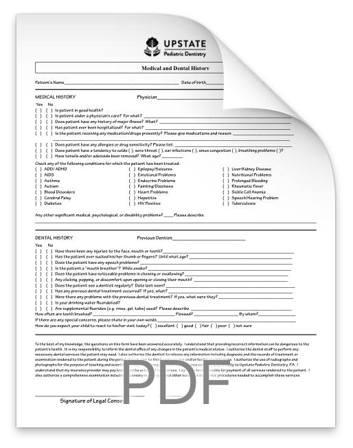 Medical & Dental History Form -