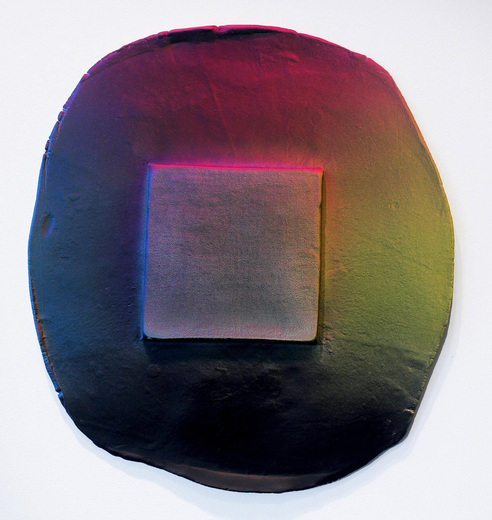 Amy Gartrell   RGB , 2015  Painted Ceramic  17 x 18 x 1""