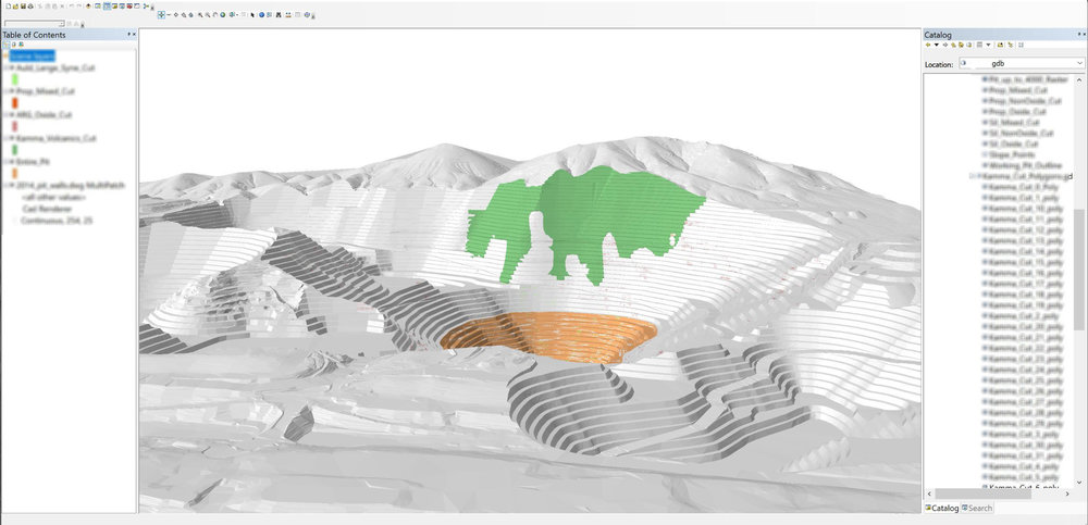 ArcGIS to Generate Surface Alteration Data for Geochemical Modeling