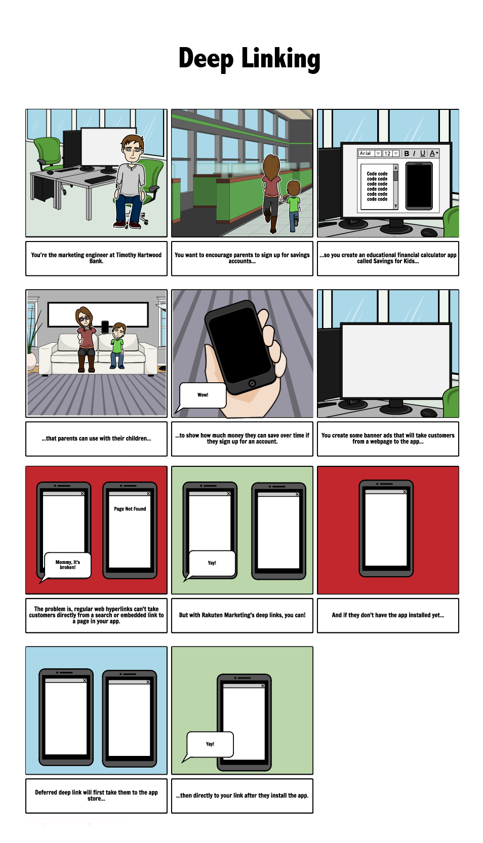 Storyboard I created to show the user story
