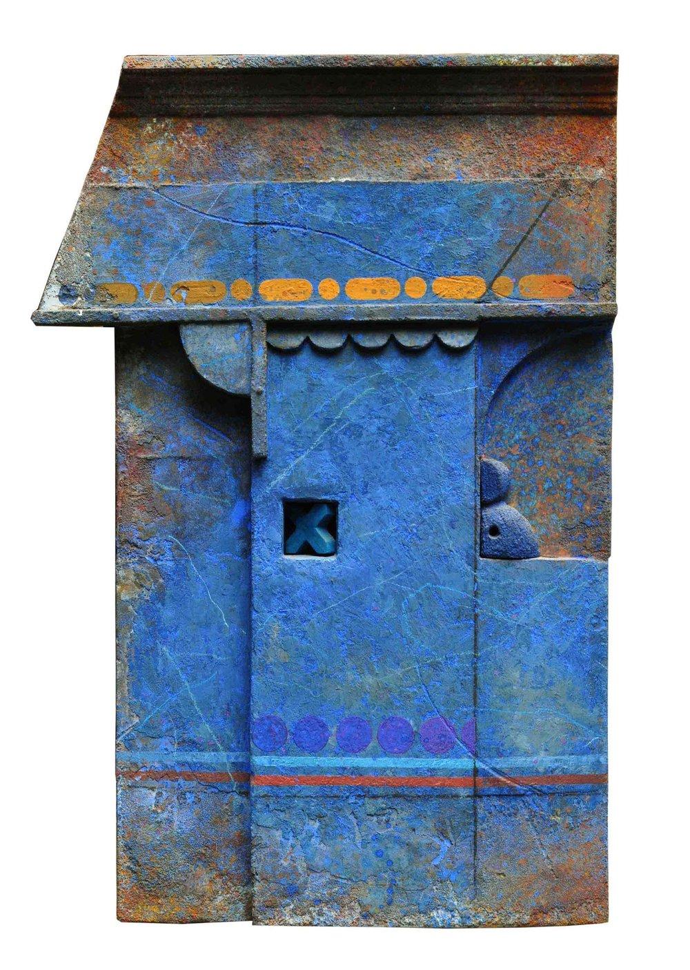 Zurbarán (Buenos Aires) .Marcelo Bonevardi, Muro Azul.  1993