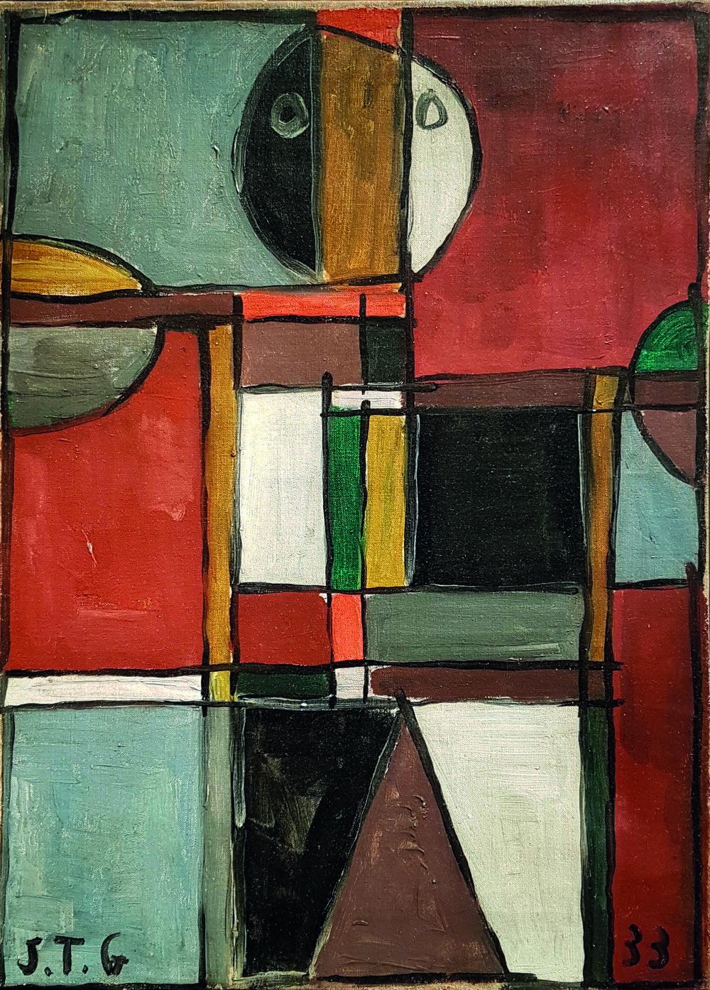 Galería SUR . Joaquín Torres García, Figura Humana con Estructura , 1933