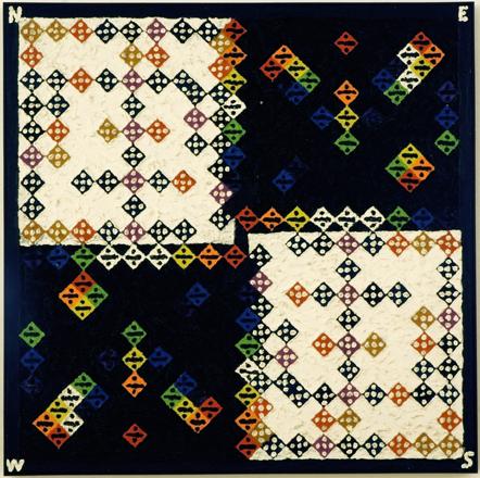Guerra Galeria de Arte. Alfred Jensen, Spectrum-dialectics , 1975