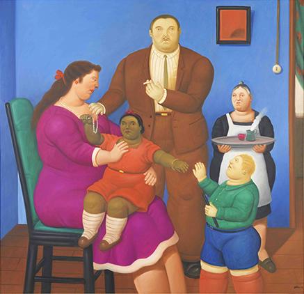 Fernando Botero,  A Family , 2010