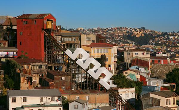 "Sabina Lang and Daniel Baumann,  Sipral # 1 , Of ""Bridges & Borders"", Valparaiso 2013"