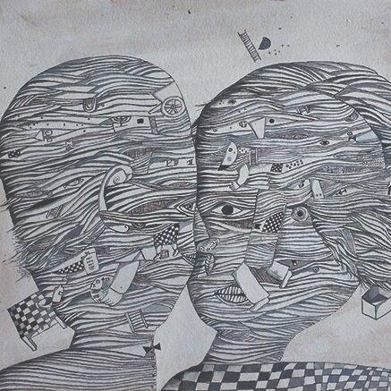José Gurvich  Pareja blanco y negro  1966