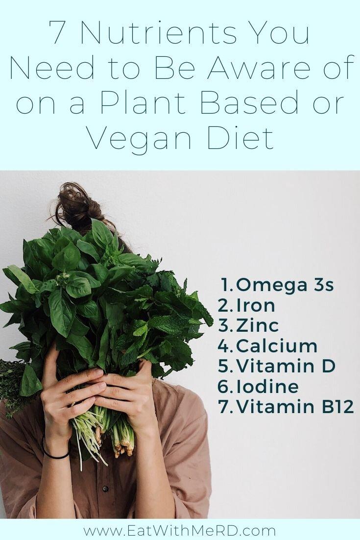 nutrients of concern vegan diet