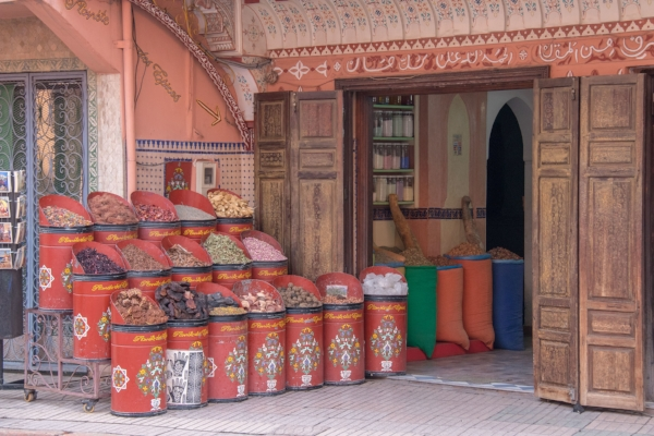 One of the many spice shops in the medina.