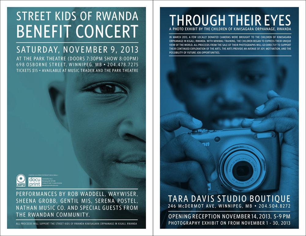 Rwanda Fundraiser - poster design