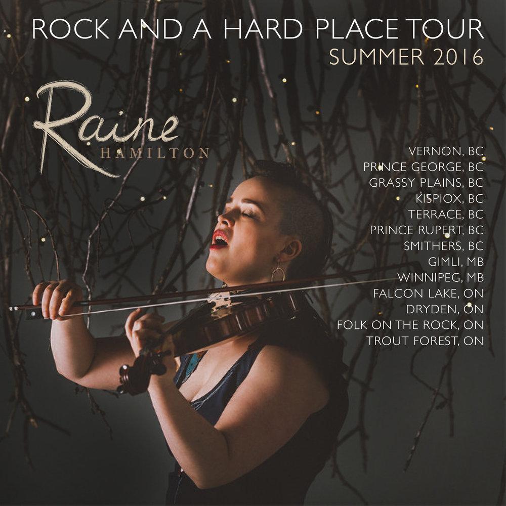 Raine Hamilton tour promo - 2016