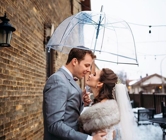The Wisconsin rain/snow/sleet/wind/fog couldn't stop this gorgeous wedding 😂. Thank goodness for gorgeous indoor venues like @thelageret ❤️ 📸: @meganxmarthaler