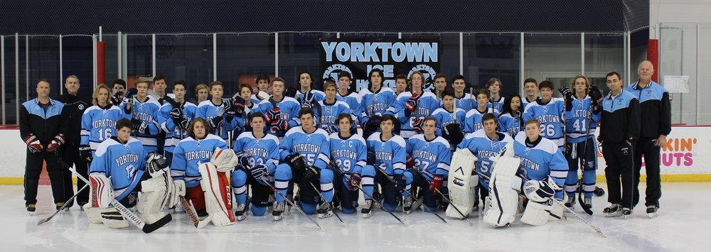 2017-18 Yorktown Patriots Ice Hockey Team  NVSHL Patrick Division Champions