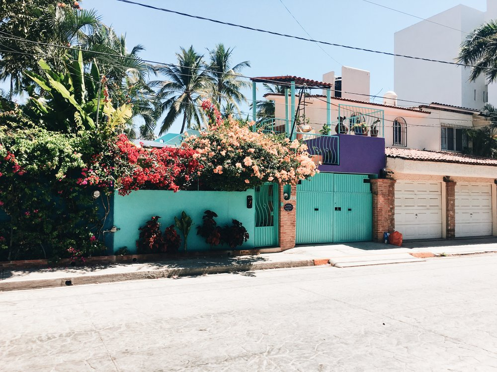 Turquoise & flowers on the side of the street. Nearly everywhere here has a pop of color, which makes me so happy!