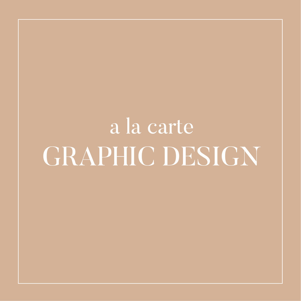 graphic design services for small business owners, influencers, and lifestyle brands