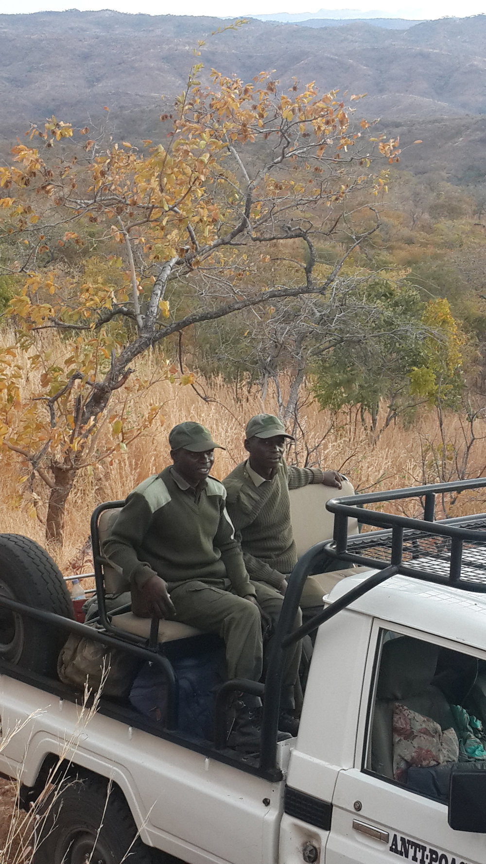 Zambezi Society vehicle deploying rangers in the hills.jpg
