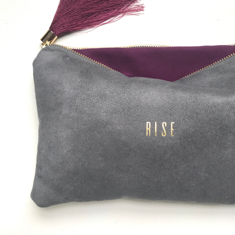 Rise Vegan Suede Clutch by Sandra Smith
