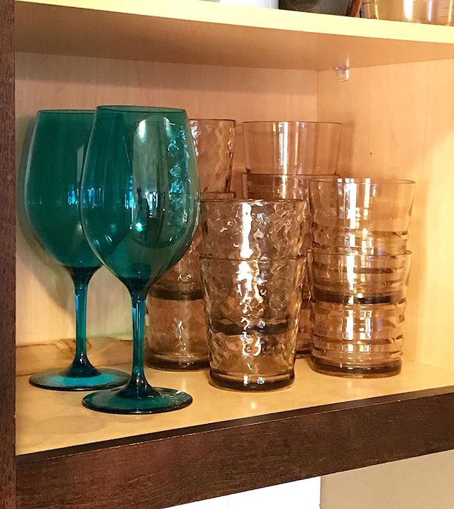 Properly Stocked ✨ • • #nuglass #officialnuglass #availableatwalmart #tritanbyeastman #unbreakable #housewares #dailyhousewares #tabletop #outdoordrinkware #stemlesswine #stemless #longlastingclarity #tritan #teal #wineglass