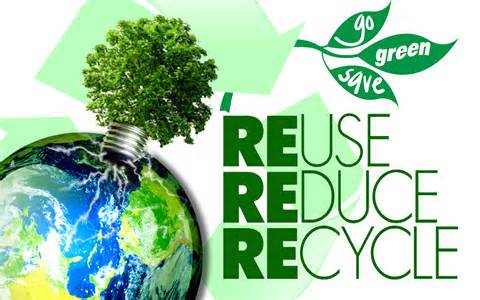 Reduce:  minimize waste, buy only what you need  Reuse:  reuse items for different purposes or give away to continue usage  Recycle:  transform discarded waste into useful product  3Rs  will help to conserve landfill space and natural resources which greatly contributes towards improving the environment