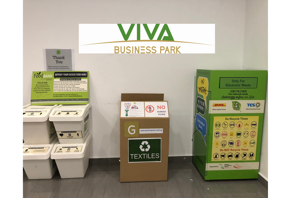 Our 1st textile recycling box in a Mall! - 750 Chai Chee Road, lift Lobby A