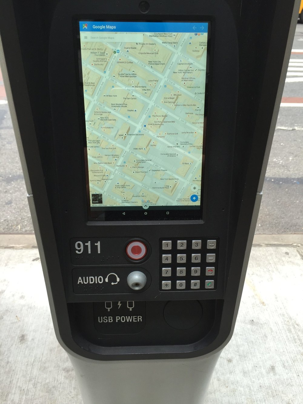 - The tourist used the map function to determine where they needed to go next and proceeded on their way.