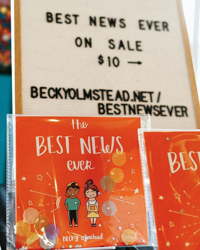 We are so excited to share the Good News of Jesus to the next generation! 🌟 Our book, The Best News Ever is available now at BeckyOlmstead.net! Check it out today! (Link in bio) . . . . #bookstagram #children #kids #bestnewsever #godloveskids #jesus #illustration #dream #hope #cute #nextgeneration #nextgen