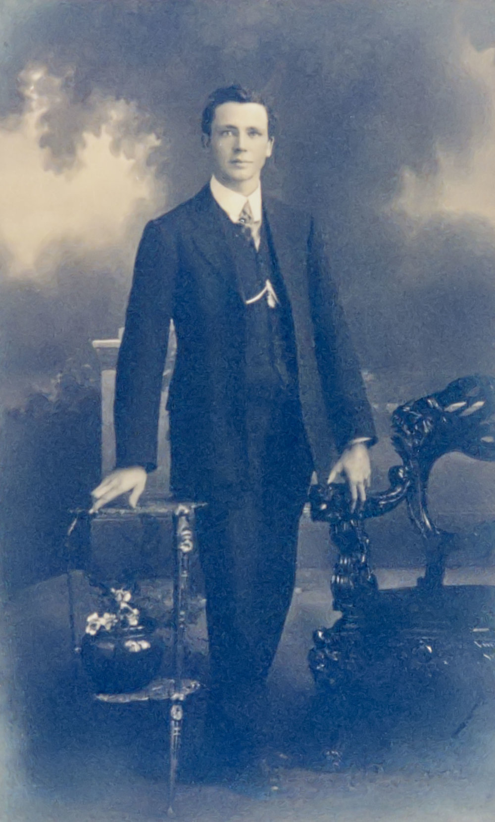 Reg Walters aged about 21, c1912