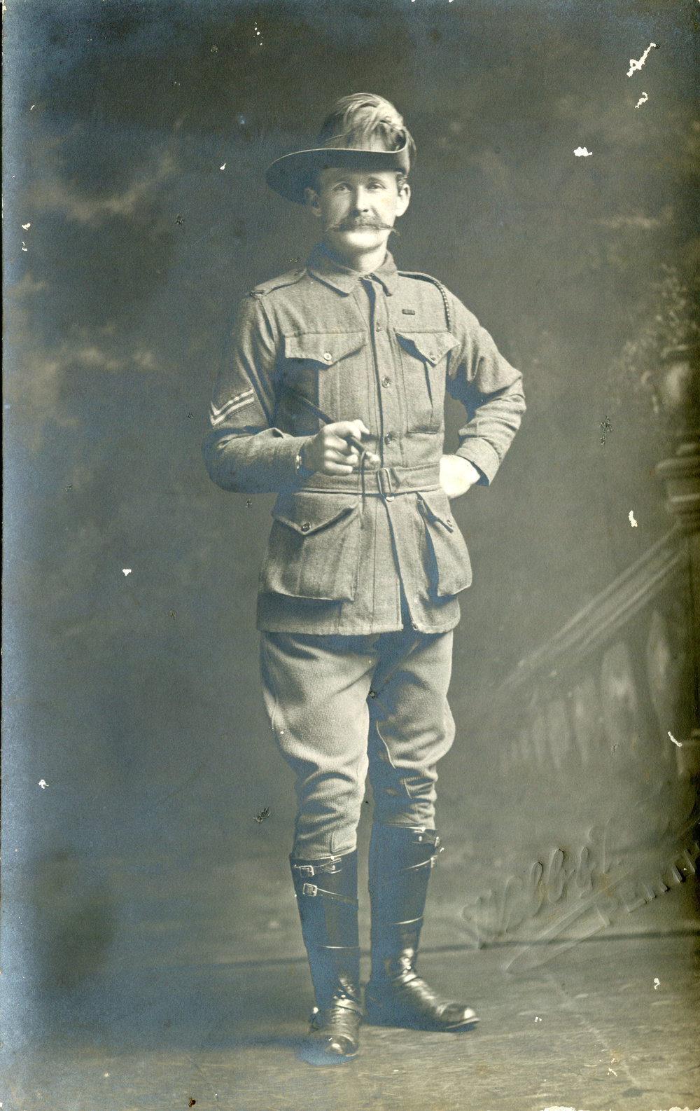 May's uncle, 10th Light Horse Regiment Corporal Malcolm 'Mick' McSwain returned with Reg.