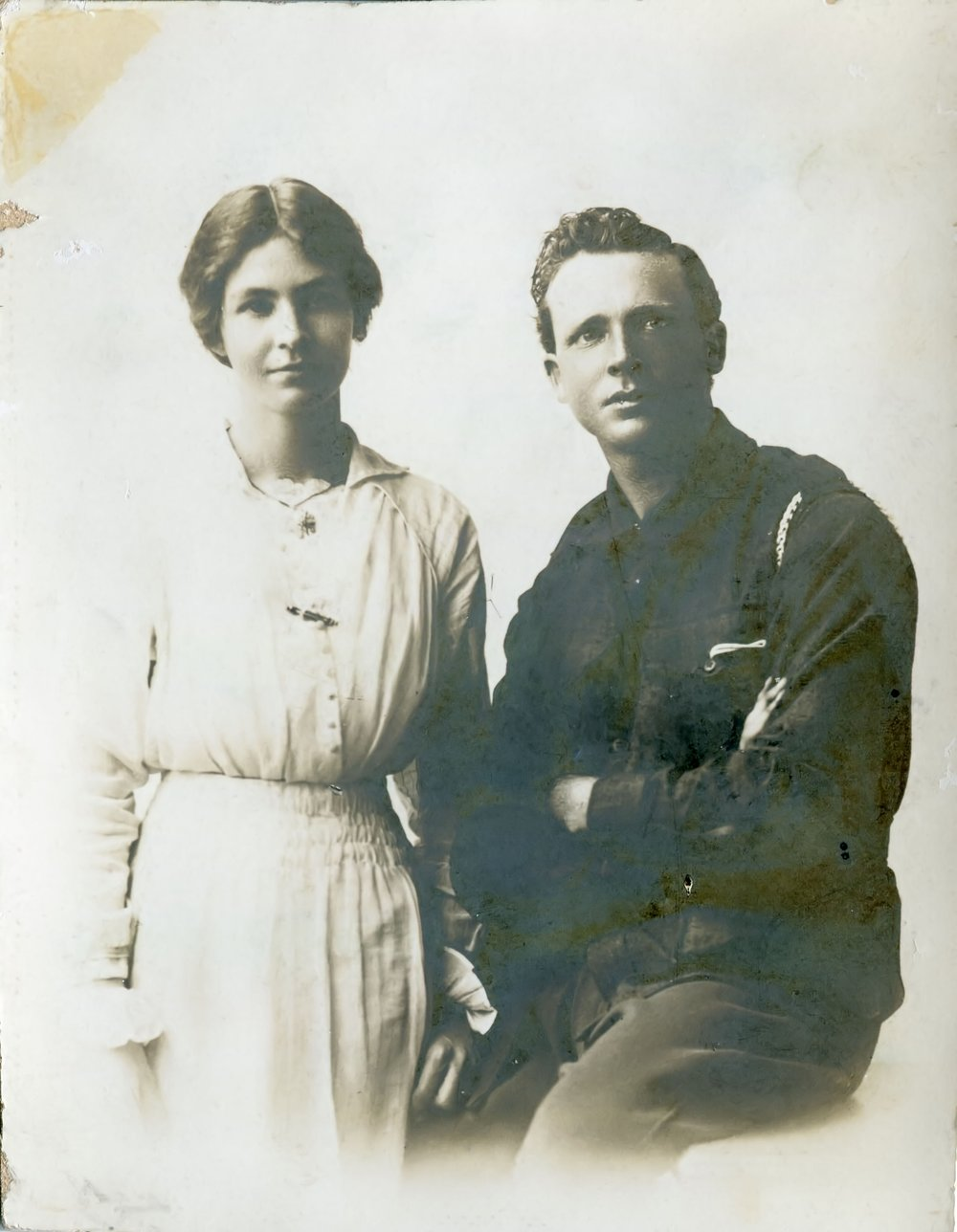 May and Reg in Perth, August 1919.