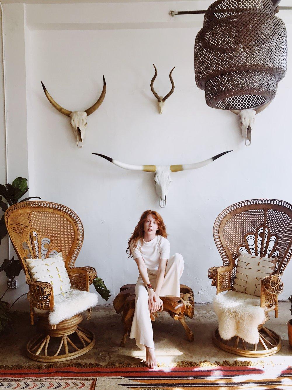 Glennellen, photographed by Noelle Williams, at the Urban Jungle Studio in Downtown LA. - TOP: ZARABOTTOMS: ZARA