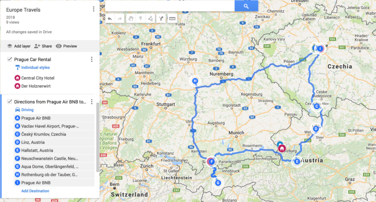 Road Map Of Germany And Austria.Austrian Alps Road Trip To Hallstatt From Prague Hello Adventure Co