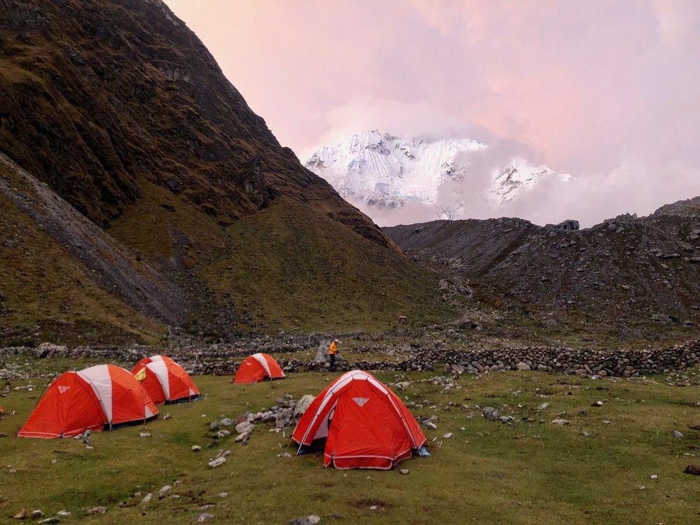 Our campsite the 1st night on the Salkantay Trek