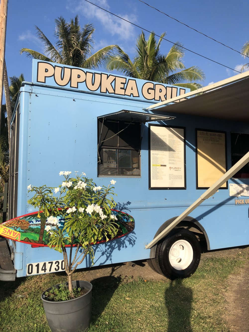 Pupukea Grill Food Truck in North Shore, Hawaii