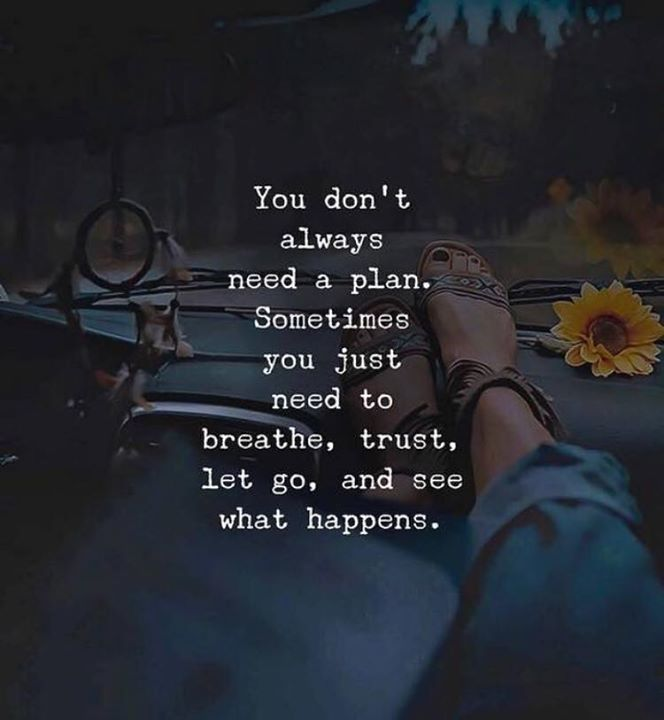 You Don't Always Need a Plan. Spontaneity Quote Nusa Penida