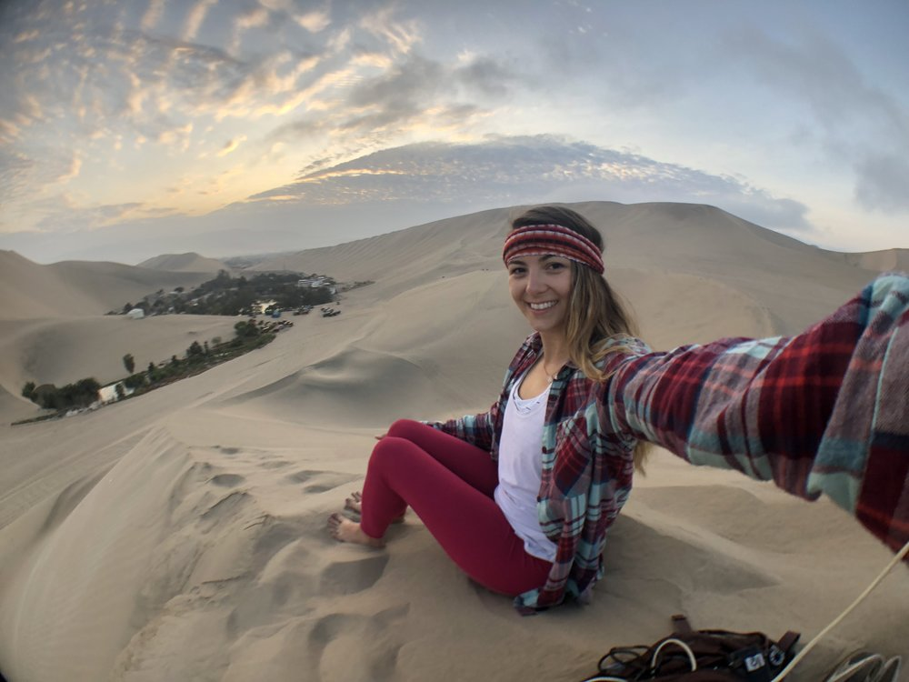 huacachina sunrise in peru