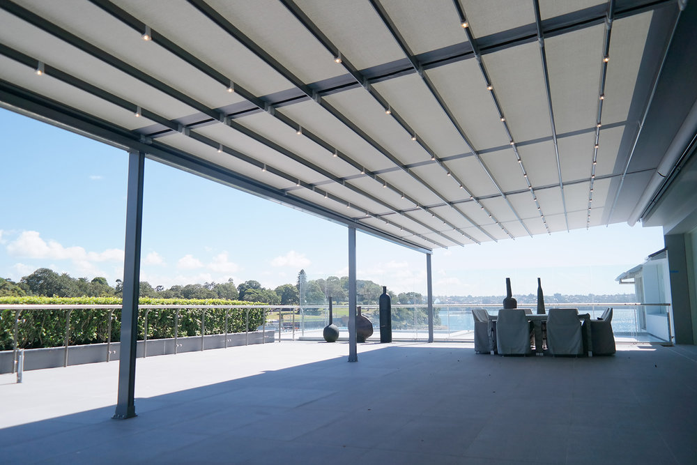 Superior Wind Rating - Our systems have been designed to withstand wind speeds exceeding 150 kph, the strongest retractable roof system on the market by far!