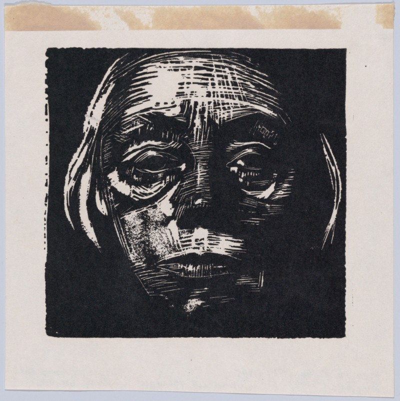 Self-Portrait   Käthe Kollwitz (German); Date: n.d. Medium: Woodcut facsimile; Metropolitan Museum of Art