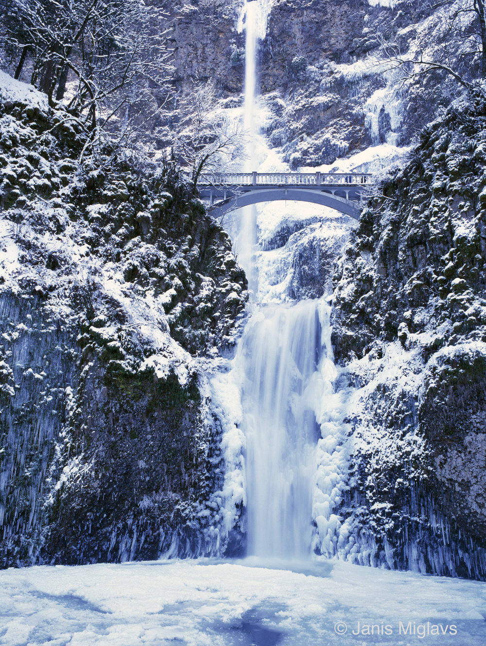 Multnomah Falls Winter