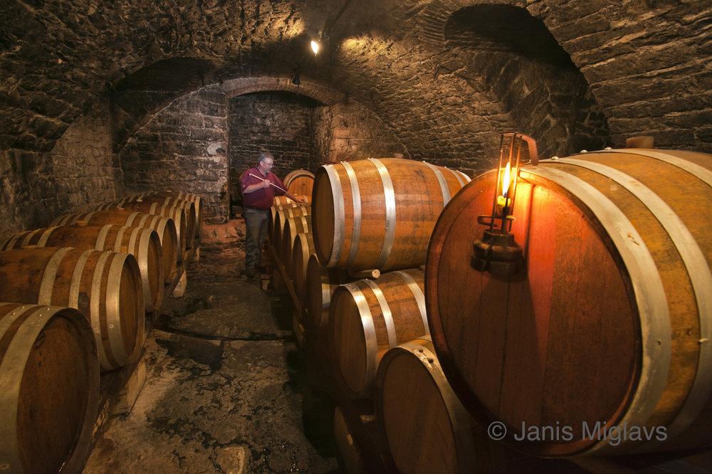 Missouri Hermann Winery Barrel Cellar