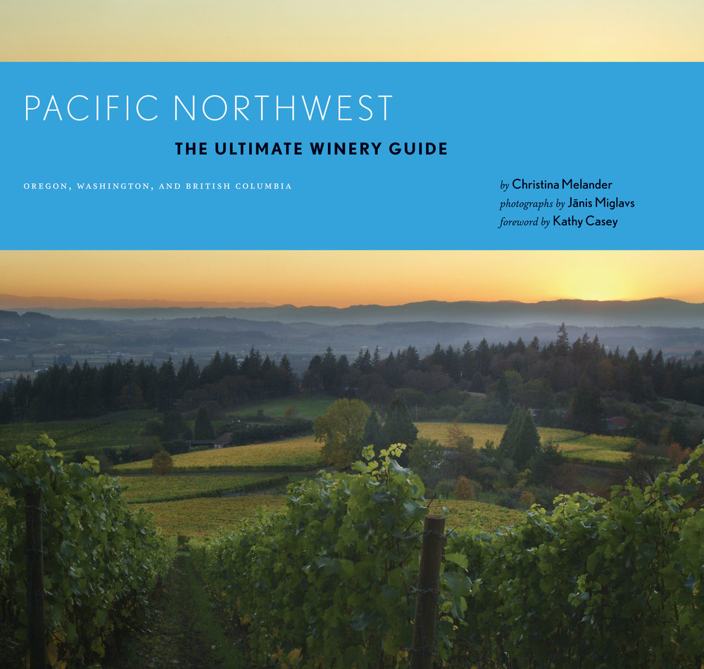 Pacific Northwest The Ultimate Winery Guide - I had been photographing vineyards on my bicycle routes when I suddenly realized that they made incredible landscapes. I called Chronicle Books to query about doing a book on Oregon wineries. After seeing my images, they thought it was a great idea, but insisted that I include Washington state wineries. After negotiating 2 1/2 months on the contract, at the last minute, Chronicle wanted to include Okanagan in BC, Canada. Since lots of photography needed to be done before winter set in, I didn't have the time and had to hire a writer.