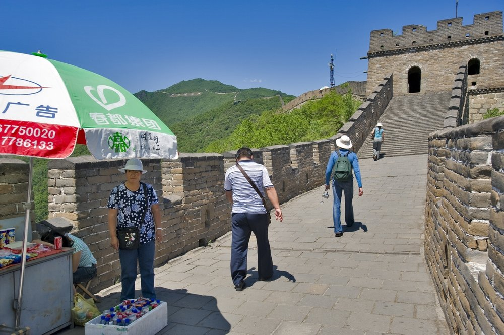 If you didn't drink too much, we can jump back into my car for a quick trip to the Great Wall.