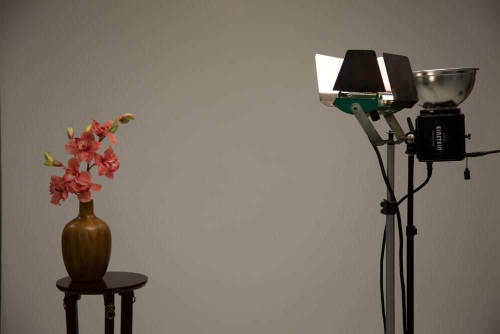 1000 watt tungsten halogen lamp - 1/50th second at f4, ISO 100