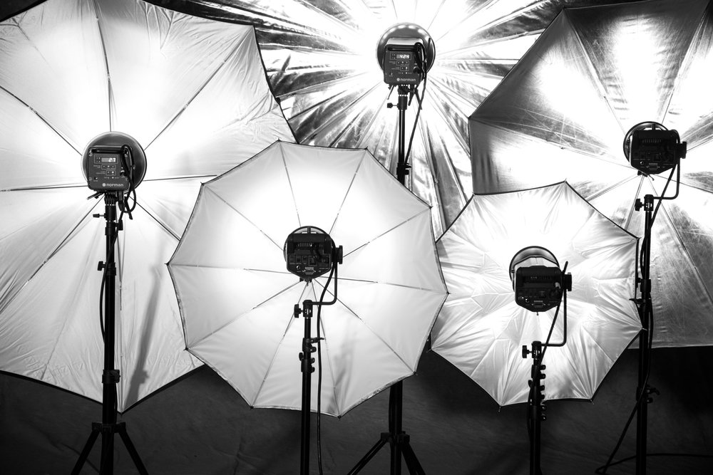 Umbrellas in a variety of sizes - ideal for use with studio flashes.
