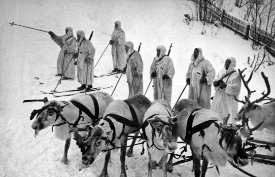 Members of the Finnish Ski Patrol in WW2 - photo by Captain   Lauri Allan Törni